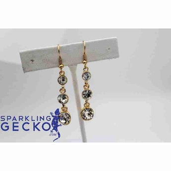 3 Crystal Dangle Earrings | Sparkling Gecko-Apparel & Accessories > Jewelry > Earrings-Sparkling Gecko