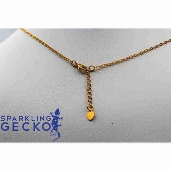 30 Inch 14K Gold Plated Copper Finished Chain Necklace Finding Golden Flat Cable Chain Losbter Clasp-Apparel & Accessories > Jewelry > Necklaces-Sparkling Gecko