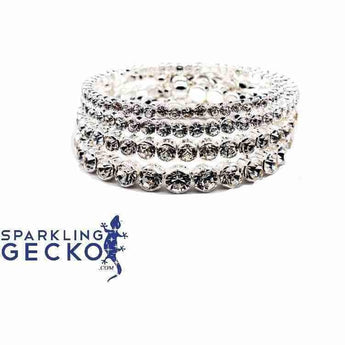 3,4,5 and 6 MM Diamoneda Bangle Set | Sparkling Gecko-Apparel & Accessories > Jewelry > Bracelets-Sparkling Gecko