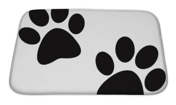 Bath Mat, Black Paw Print