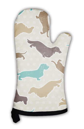 Oven Mitt, Dachshunds Varieties Pattern