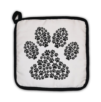 Potholder, Dog Footprint