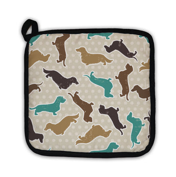 Potholder, Dachshunds Varieties Pattern