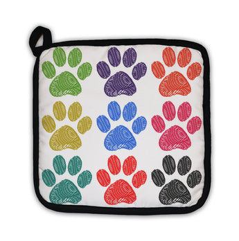 Potholder, Paw Prints