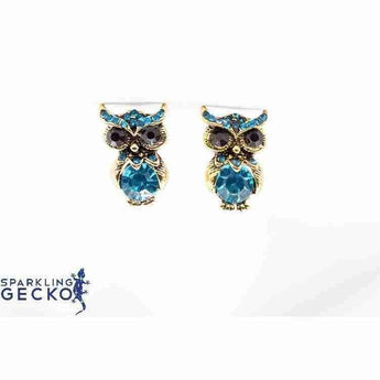 Blue Owls Earrings | Sparkling Gecko-Apparel & Accessories > Jewelry > Earrings-Sparkling Gecko