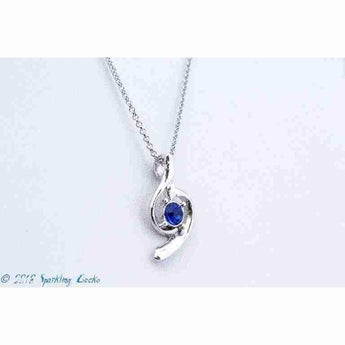 Blue Treble Necklace | Sparkling Gecko-Apparel & Accessories > Jewelry > Necklaces-Sparkling Gecko