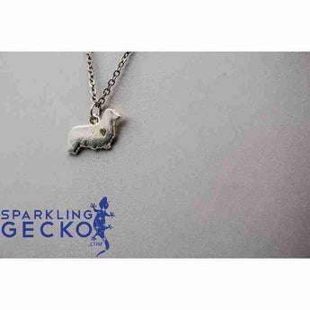 Dachshund Long Hair Heart Necklace - Silver | Sparkling Gecko-Apparel & Accessories > Jewelry > Necklaces-Sparkling Gecko