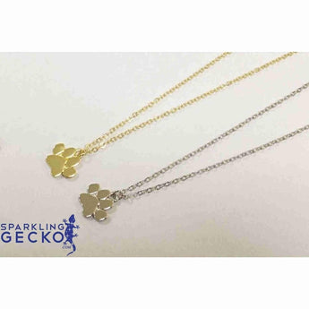 Gold Paw Pendant Necklace