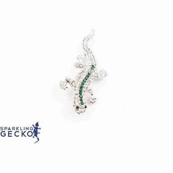 Green Sparkling Gecko Pin | Sparkling Gecko-Apparel & Accessories > Jewelry > Brooches & Lapel Pins-Sparkling Gecko