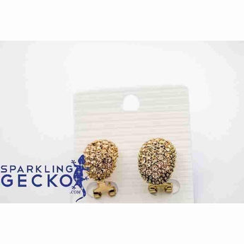 Puffball Gold Earrings-Apparel & Accessories > Jewelry > Earrings-Sparkling Gecko
