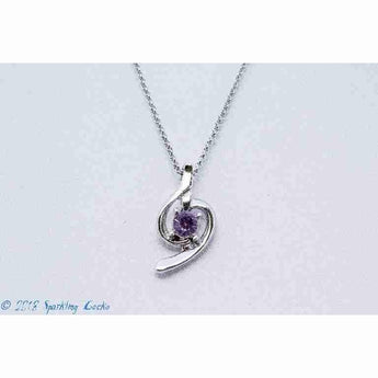 Purple Treble Necklace
