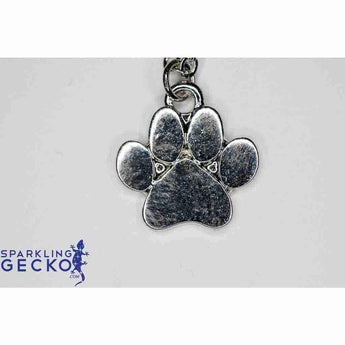 Silver Paw Pendant Necklace | Sparkling Gecko-Apparel & Accessories > Jewelry > Necklaces-Sparkling Gecko
