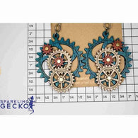 Steampunk Kinetic Gear Earrings 5003C