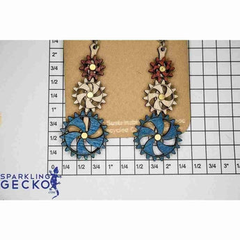 Steampunk Kinetic Gear Earrings 5009F