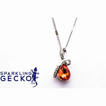 Teresa - Citrine Necklace | Sparkling Gecko-Apparel & Accessories > Jewelry > Necklaces-Sparkling Gecko