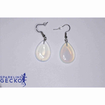Translucent Teardrop Earrings