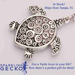 Turtle Pendant Necklace | Sparkling Gecko-Apparel & Accessories > Jewelry > Necklaces-Sparkling Gecko