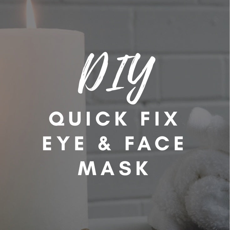 Recipe for DIY quick fix eye & face mask!