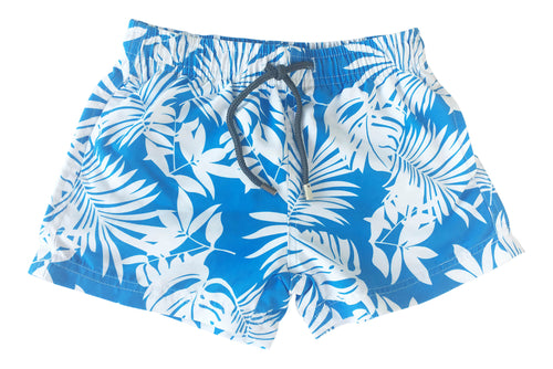Boys Blue Palm Shorts