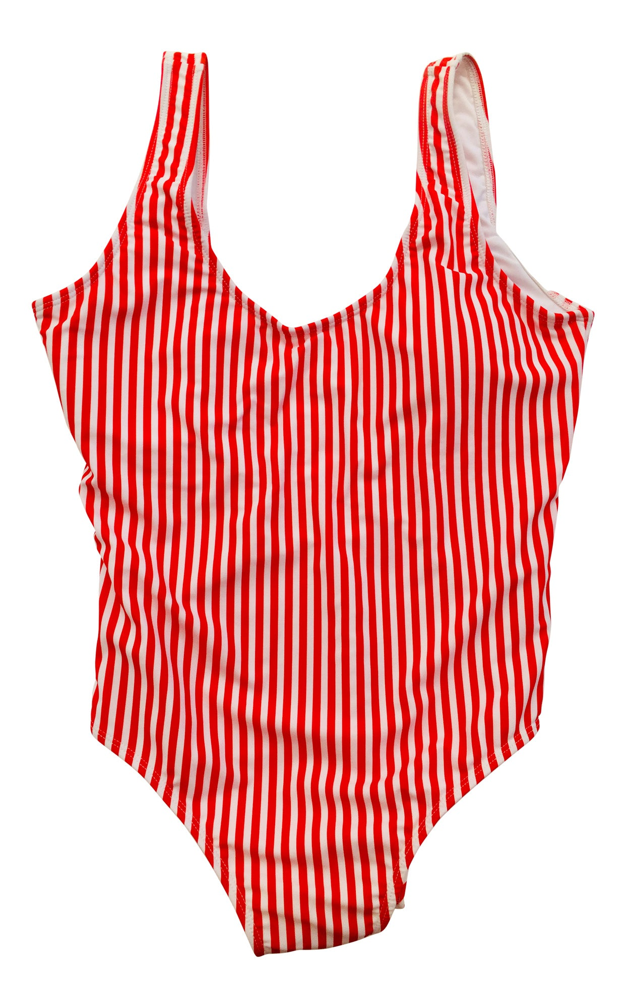 Red Stripes One Piece