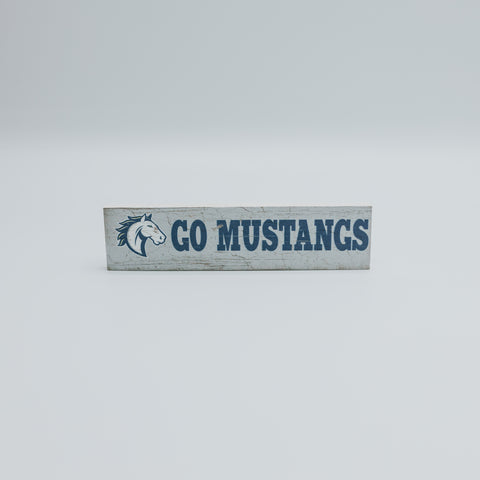Go Mustangs Wood Magnet