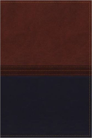NKJV, The MacArthur Study Bible, Imitation Leather, Brown/Navy, Indexed: Revised and Updated Edition