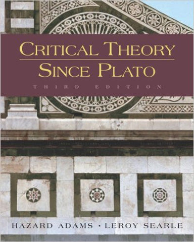 Critical Theory Since Plato
