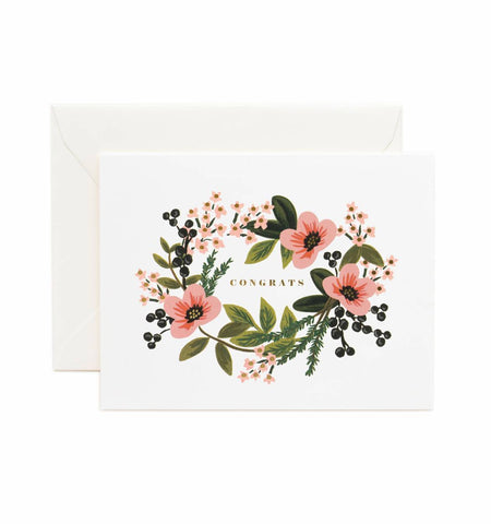 Congrats - Flower Greeting Card
