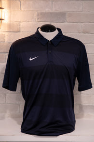 Master's Shield Polo (Striped Navy)