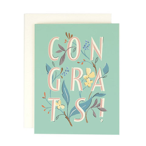 Congrats Type (Greeting Card)