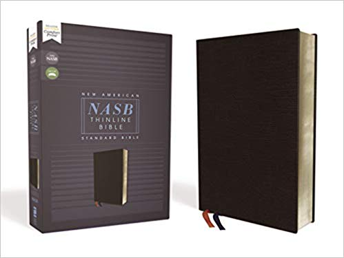 NASB, Thinline Bible, Bonded Leather, Black