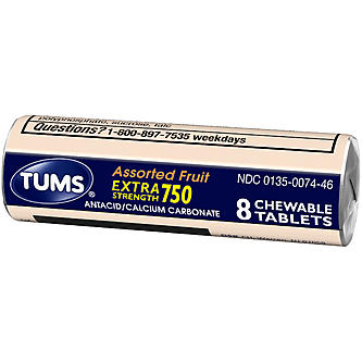 Tums Extra Strength 750 - Assorted Fruit