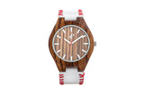 The Pastime - Zebra Wood and Real Leather