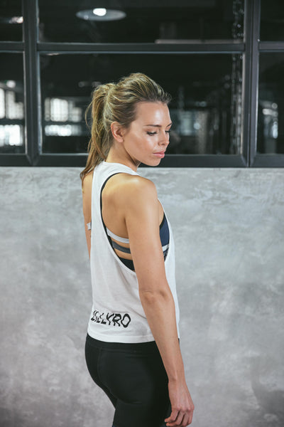 'Meant It' Singlet - White with Black logo