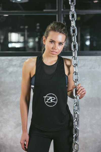 'Meant It' Singlet - Black with White Logo