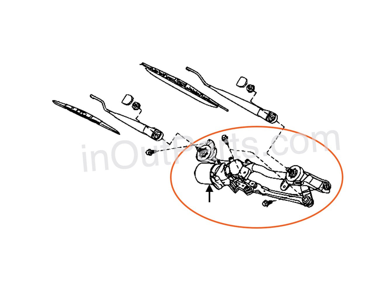 Windshield Wiper Linkage fits NISSAN NOTE 2005 2006 2007