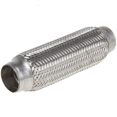 45x220mm Stainless Steel Braided Flexible Exhaust Pipe Muffler 45mm x 220mm, For all car Muffler corrugation. Repair Tube Joint