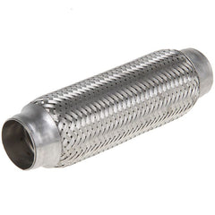 45x260mm Stainless Steel Braided Flexible Exhaust Pipe Muffler 45mm x 260mm, For all car Muffler corrugation. Repair Tube Joint - Inout Parts