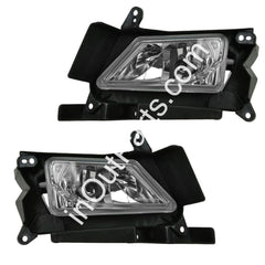Fog Lights fits Mazda 3 2008 2009 2010 2011 Clear Driving Lamps Pair - Inout Parts