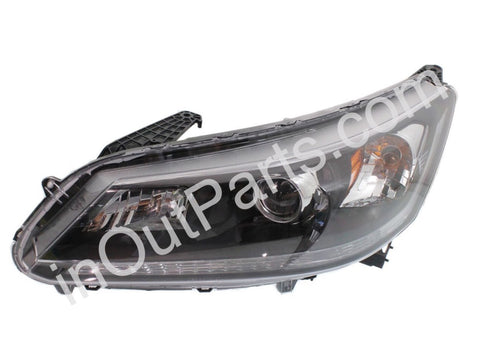 Headlight Left for HONDA ACCORD 2013 2014 2015 2016 Driver Side - LED stripe