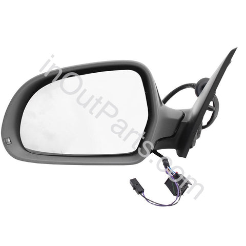 Mirror Left for Audi Q3 2011 2012 2013 2014 Driver Side 6 contacts