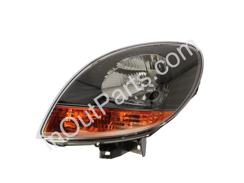 Headlights for Renault Kangoo 2003 2004 2005 2006 2007 Left Driver Side - Black, yellow slew