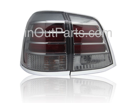 Tail Lights fits TOYOTA LAND CRUISER 200 2007-2014 Rear Lamps SET LEFT + RIGHT PAIR Outer - Smoke LED Tuning SET