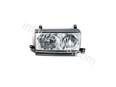 Headlights Pair for TOYOTA LAND CRUISER 80 1990 1991 1992 1993 1994 1995 1996 1997 1998 Headlamps Left + Right Side - CRYSTAL