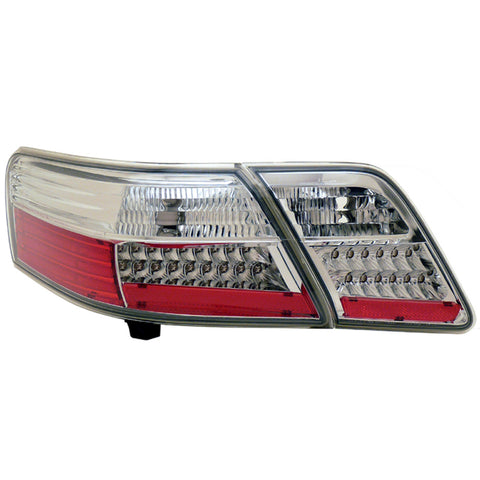 Tail Lights fits TOYOTA CAMRY 2006-2009 Rear Lamps SET LEFT + RIGHT PAIR - CHROME LED TUNING SET