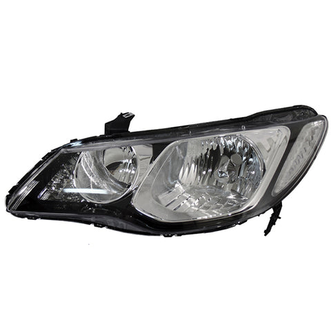 Headlight Left fits HONDA CIVIC 2005 2006 2007 2008 2009 2010 2011 4 Doors Headlamp Left for Leveling