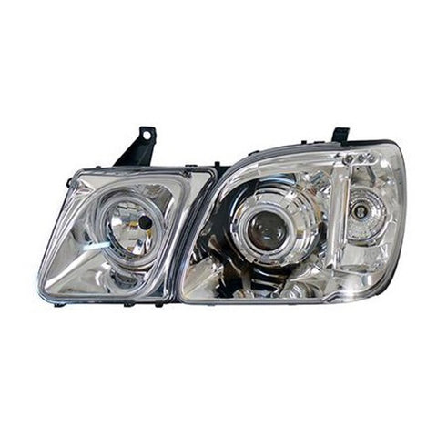 Headlights Pair for LEXUS LX470 1998 1999 2000 2001 2002 2003 2004 2005 2006 2007 Left + Right Side - Chrome Tuning SET
