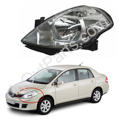Headlight Left side for NISSAN TIIDA 2004 2005 2006 2007 2008 2009 2010 Driver Side