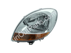 Headlight Left for RENAULT KANGOO 2003 2004 2005 2006 2007 Driver Side - Chrome, Yellow Side Indicator