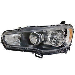 Headlight Halogen Left for MITSUBISHI LANCER X 2007 2008 2009 2010 2011 2012 2013 2014 2015 2016 Driver Side